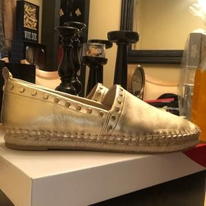 Sam Edelman Gold Studded Espadrilles (New)